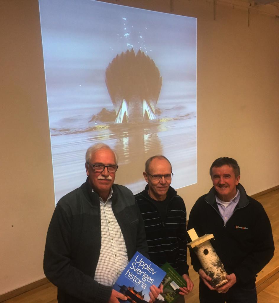 Vinnarna i fototävlingen: Ingmar Kristiansson, Tonny Aronsson och Karlo Pesjak